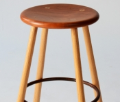 BS108 BRADFORD WOODWORKING COUNTER HEIGHT PURE & SIMPLE STOOL