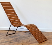 JC101 JOHN CORCORAN MAPLE SLAT CHAISE