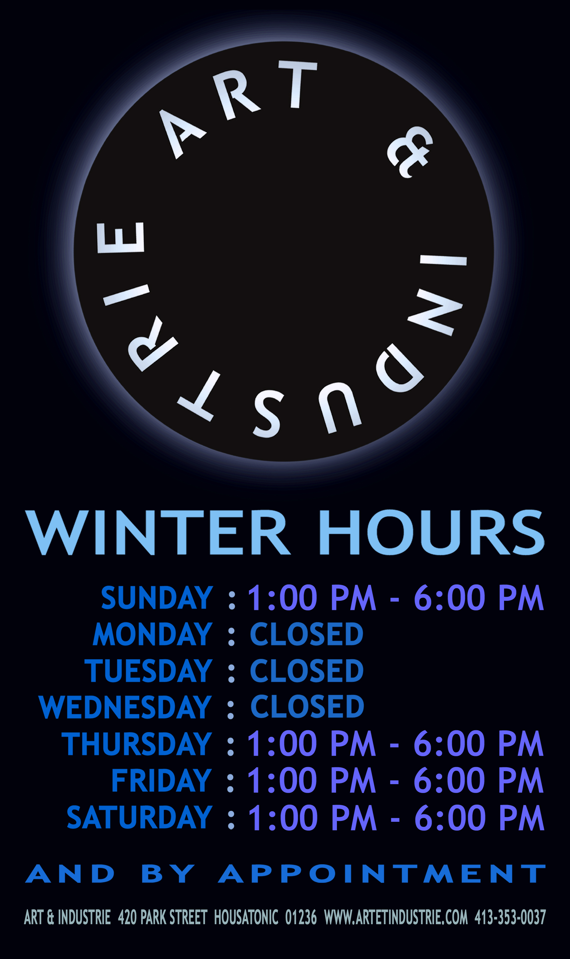 HOURS SIGN WINTER