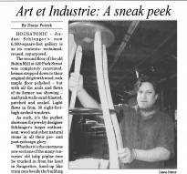 BERKSHIRE RECORD, JULY 2012: Art & Industrie, A Sneak Peak