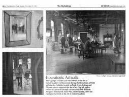 Berkshire Eagle Covers Art & Industrie at the Housatonic Artwalk, NOVEMBER 2012